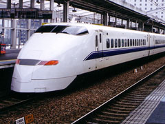 shinkansen bullet train - tokyo, japan
